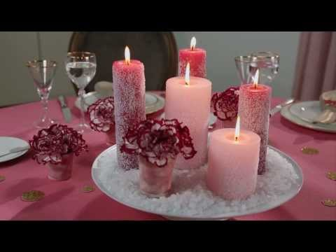 Easy Christmas Crafts: Frosted Candle