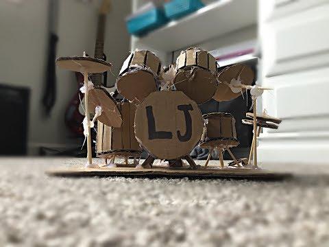 Mini Cardboard Drum Set!