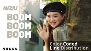 NiziU (ニジュー) - Boom Boom Boom | Line Distribution (Color Coded)