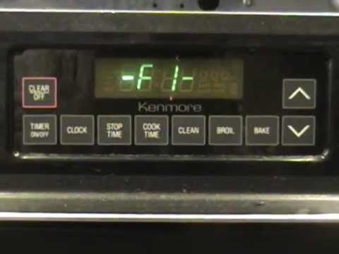 How to Fix an F1 Error On a Kenmore or GE Range
