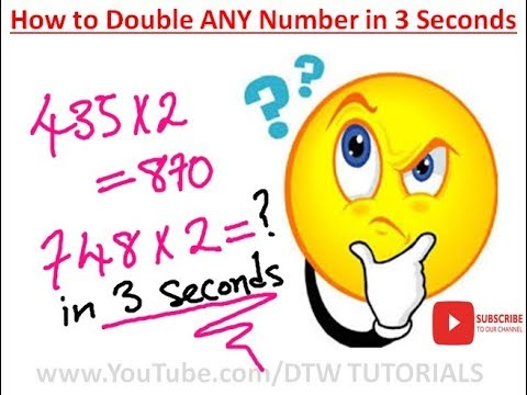 Double ANY Number Easily in 3 Secs | Maths Trick