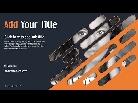 Attractive Cover Slide Design on PowerPoint