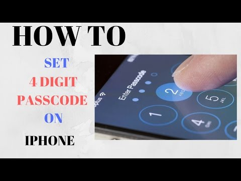 How To Change iphone Password To Four Digits