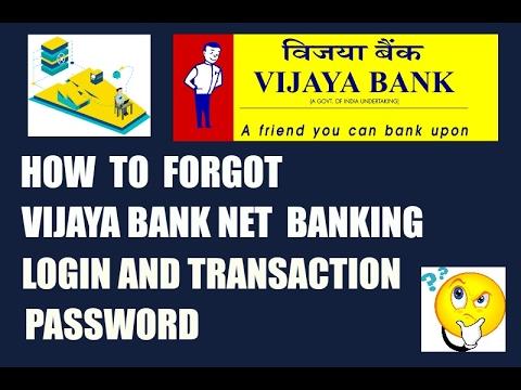 how to reset vijaya bank net banking login and transaction password