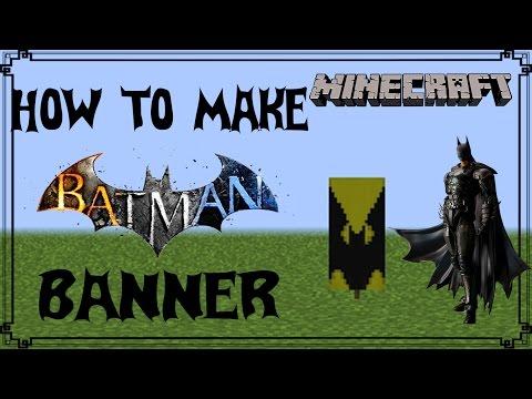 Minecraft | How to make Batman Banner | Mangoman