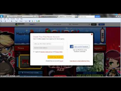 ~How To make Maplestory Account~
