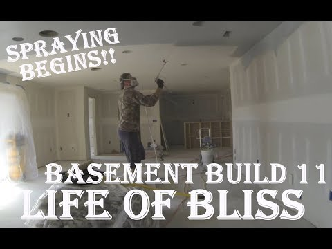 Basement Build 11| Hearth Built | Primed Ceilings
