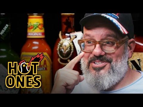 Xxx Mp4 David Cross Embraces The Extremes Of Spicy Wings Hot Ones 3gp Sex