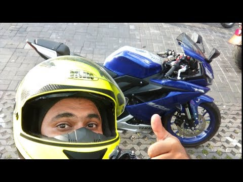 I test rode the YAMAHA R15 V3  🖖 before it Launched in India