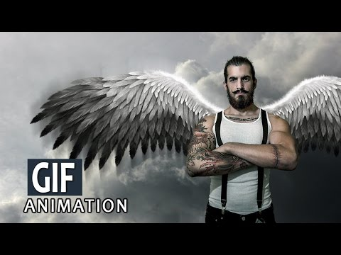 Simple Wings GIF Animation - Photoshop Tutorial