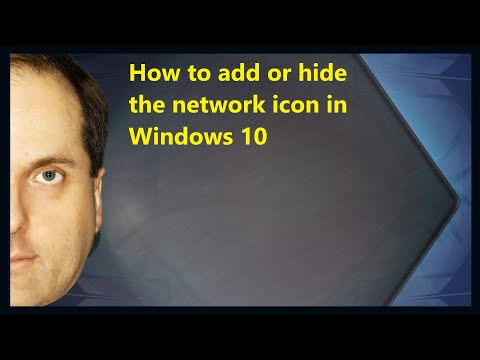 How to add or hide the network icon in Windows 10