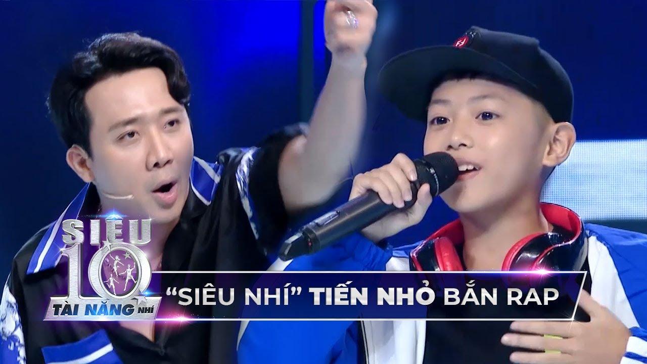 Tiến Nhỏ trổ tài bắn ráp 'CỰC NHANH' giao lưu với 'Rapper Trấn Thành' tại trường quay Super 10
