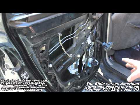 Rear Window Regulator w/ Motor Remove & Replace