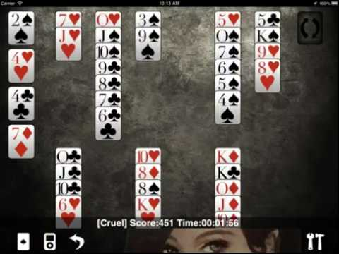 PiPlay Solitaire Gameplay Features -  Free 36 Games for iPad, iPod Touch, and iPhone