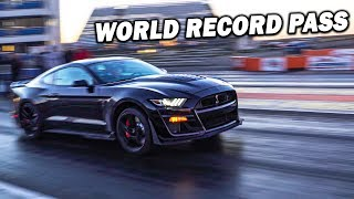 SETTING THE 1/4 MILE WORLD RECORD FOR A STOCK MUSTANG IN MY 2020 GT500!