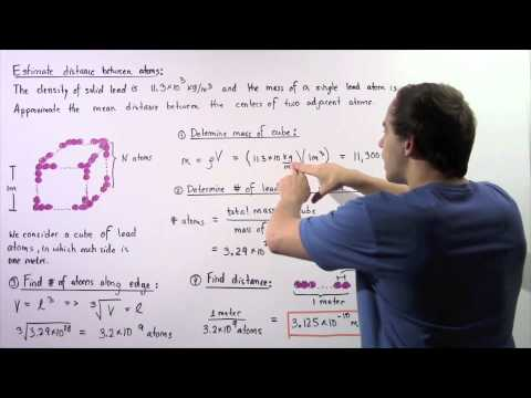 Calculating Distance Between Atoms in Solid
