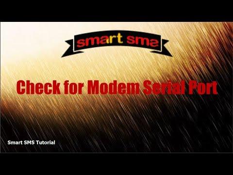 How To Check for Modem Serial Port
