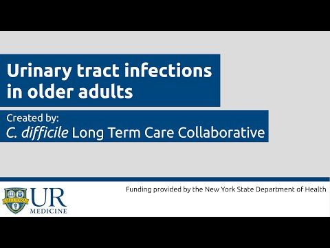 Urinary Tract Infections in Older Adults Educational Video