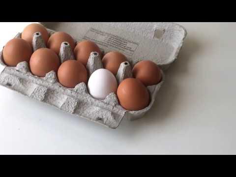 Egg Whitening - how to whiten an brown egg
