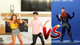 FORTNITE DANCE CHALLENGE WITH SISTER! (IN REAL LIFE) | Brent Rivera