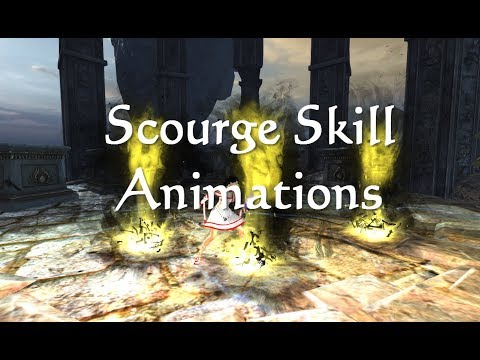 GW2 Scourge (Necro) Elite Spec Skill Animations