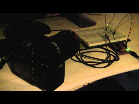 Canon EOS-550D shutter control with MSP430G2553