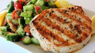 Grilled Swordfish Over Fattoush