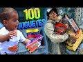 REGALANDO 100 JUGUETES en la CALLE a NIÑOS de VENEZUELA