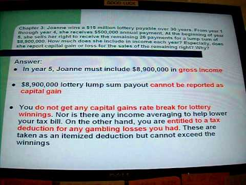 CALMAT: Taxation: Tax on Lottery Winnings, Gambling Losses and Foreign Earned Income of year 2010