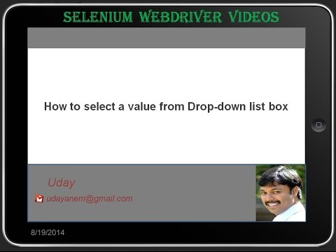 [Selenium WebDriver Videos]: How to select a value from a Dropdown listbox