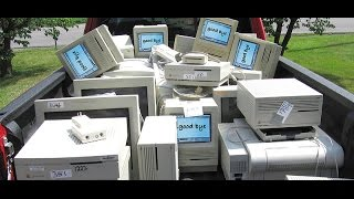 Vintage Mac computers at the recycling center
