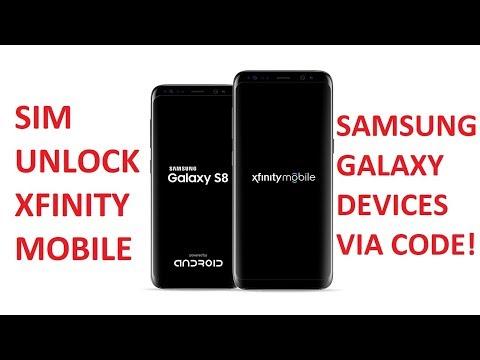 SIM Unlock Xfinity Mobile Samsung Galaxy Devices via Unlock Code!