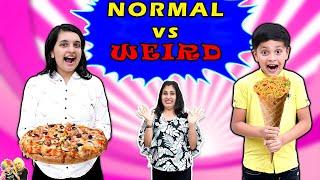 NORMAL vs WEIRD Food Challenge | Eating challenge | Aayu vs Pihu | Aayu and Pihu Show