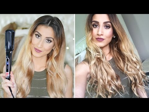 Insanely Easy Beachy Waves Tutorial Using a Flat Iron!