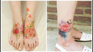 Flower Tattoos Mimic Watercolor Paintings On Skin