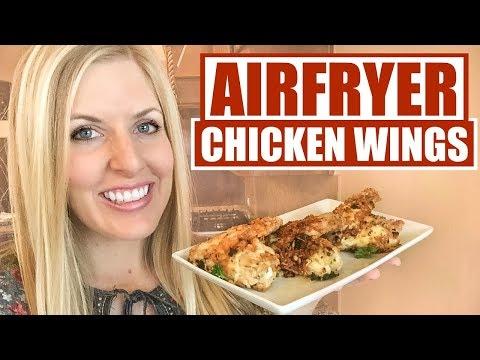 Crispy Parmesan Chicken Wings in an Air Fryer