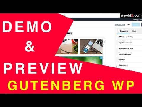 Gutenberg WordPress Editor Demo & Preview