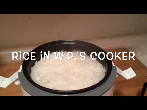 Rice in the Wolfgang Puck Rice cooker...really!