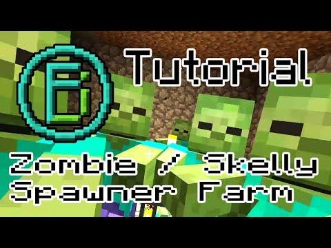 Minecraft Tutorial - Zombie /  Skeleton Spawner Mob Farm