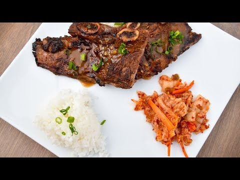 Galbi Beef Ribs on the Grill