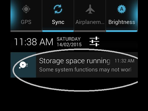 How to fix system storage running out of space error in android?