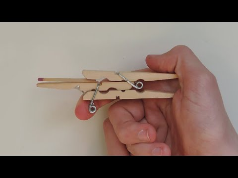 How to Make A Clothespin Toothpick Gun. (Full HD)