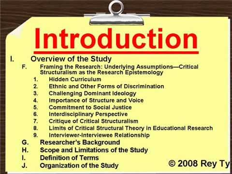 Sample Qualitative Research Outline -- Rey Ty