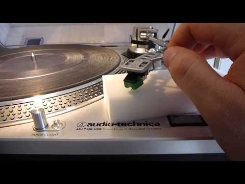 Cleaning Turntable Stylus with Magic Sponge (Magic Eraser)