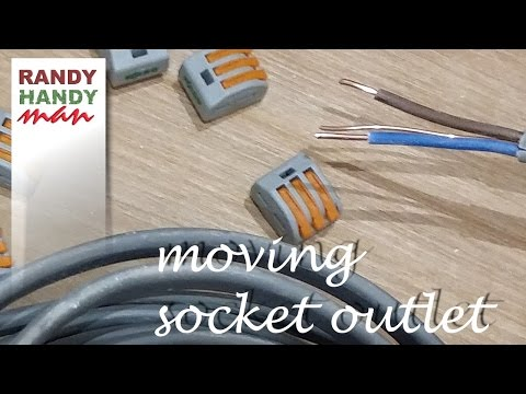 How to move socket outlet . Extend socket outlet.