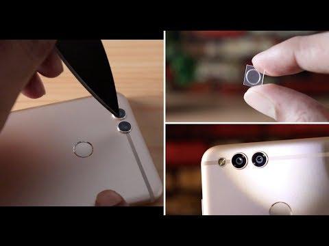 Camera lens guard   Smartphone camera lens cover for dual camera mobiles