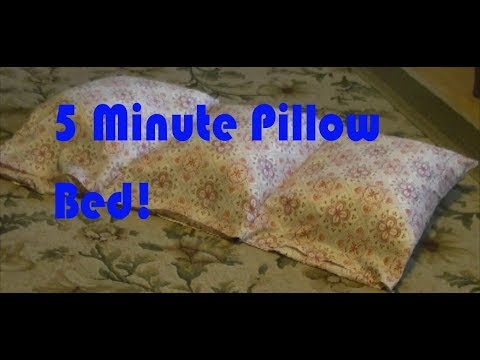 DIY 5 Minute Pillow Bed