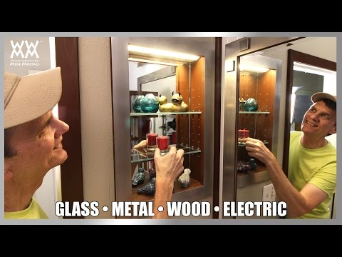 DIY Recessed Wall Cabinet | Extra Fancy Lighting!