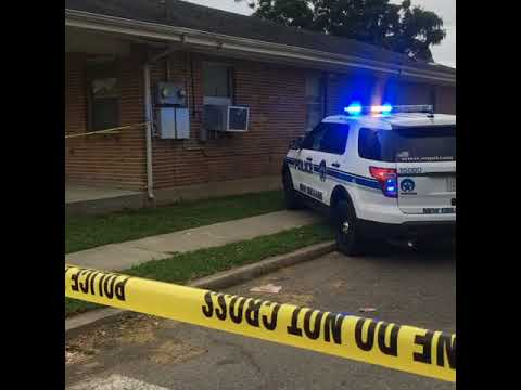 The scene of a Gentilly shooting late Monday afternoon (June 4).