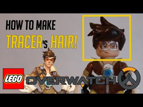 How to Make custom LEGO Tracer Hair - LEGO Overwatch
